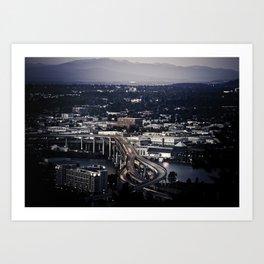 """ Portland "" - Print Art Print"