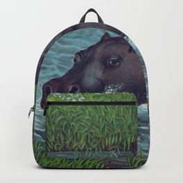 Vintage Illustration of Hippopotamuses (1874) Backpack