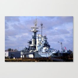 USS North Carolina BB-55 Canvas Print