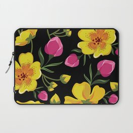 Beautiful pattern with tropical flowers. Laptop Sleeve