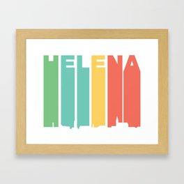 Retro 1970's Style Helena Montana Skyline Framed Art Print