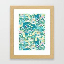 The secret map of Unicorns Village Framed Art Print