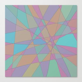 Shattered Turquoise & Pink Canvas Print