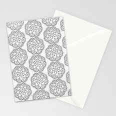 Silver grey lace floral Stationery Cards