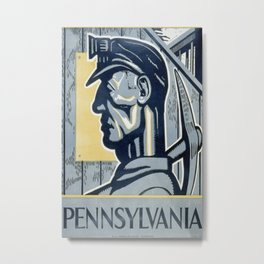 Vintage poster - Pennsylvania Metal Print