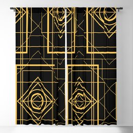 Egyptian Geometric Art Deco Design Blackout Curtain