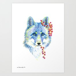 Forest Animals series - Fox Art Print