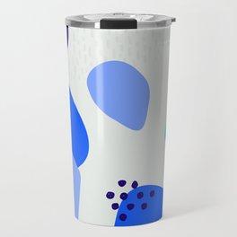 Blue abstract pattern Travel Mug