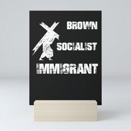 Brown Socialist Immigrant Jesus Mini Art Print