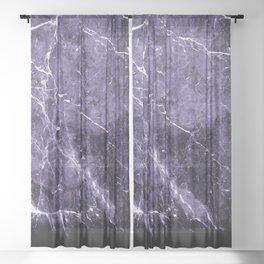 Ultra Violet Marble #1 #decor #art #society6 Sheer Curtain