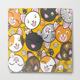 Happy Cats Metal Print