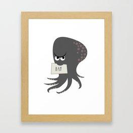 Squid of Contempt Framed Art Print
