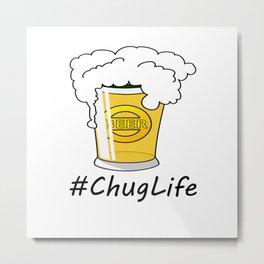 #ChugLife Beer Mug Metal Print