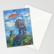Robot with Parasol Stationery Cards