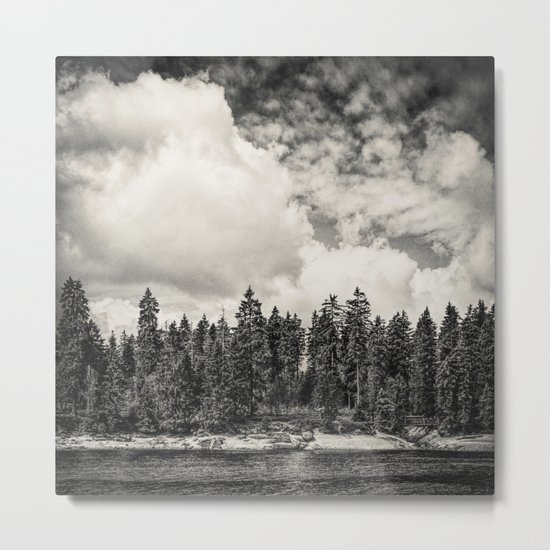 Far Away Clouds Passing By Metal Print