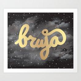 La Bruja Vibes in Gold Art Print