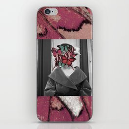 Butterfly head is watching you iPhone Skin