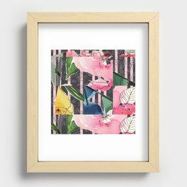 Floral Clash Recessed Framed Print