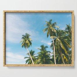 Palms Trees on the San Blas Islands, Panama Serving Tray
