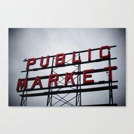 Public Market - Seattle Canvas Print