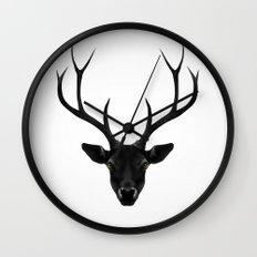 The Black Deer Wall Clock