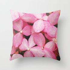 Blooms of Pink Throw Pillow