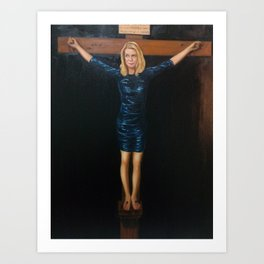 "Katie Hopkins ""Christ Crucified"" A nobilified creation Art Print"