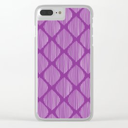 Orchid Ogee Drawing Clear iPhone Case