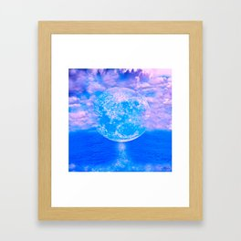MOON BEAMS Framed Art Print