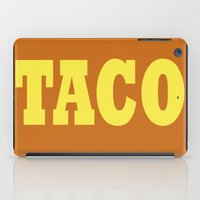 taco iPad Cases featuring Taco by Book Ink Boutique
