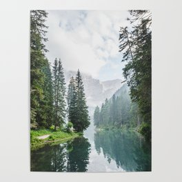 Forest Reflection in Italy Poster
