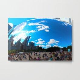 Cloud Gate Metal Print