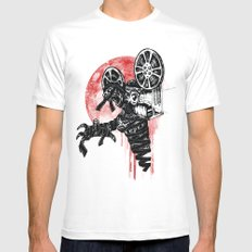 A Film By The Mummy MEDIUM White Mens Fitted Tee