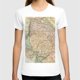 Vintage and Retro Map of India T-shirt