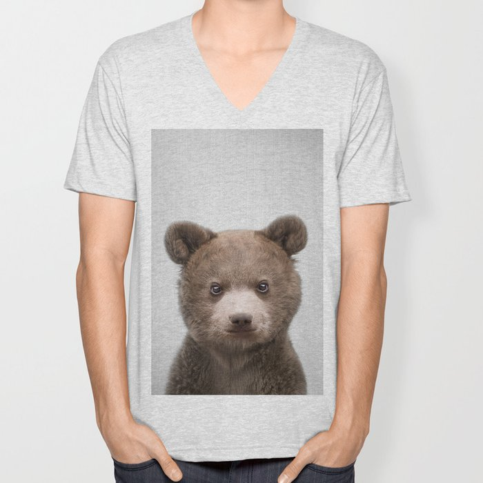 Baby Bear - Colorful Unisex V-Neck
