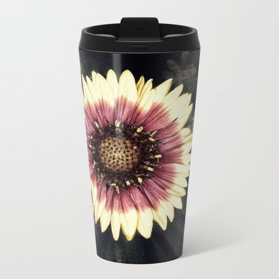 Flower Art Metal Travel Mug