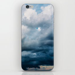 Rain Storm Clouds Gathering On Sky, Stormy Sky, Infinity iPhone Skin