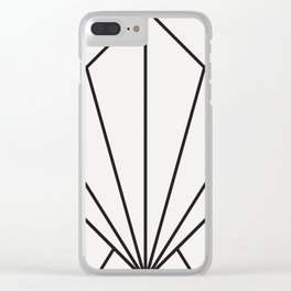Diamond Series Sun Burst Charcoal on White Clear iPhone Case