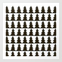 Evergreen Geo Art Print