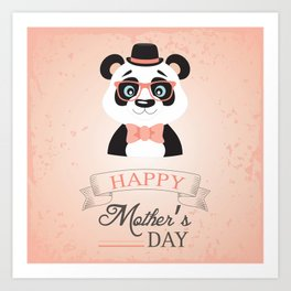Happy Mother's Day ~ Panda Art Print