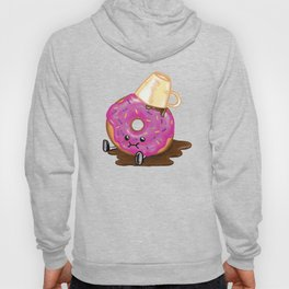 Clumsy Donut Spills Coffee Hoody