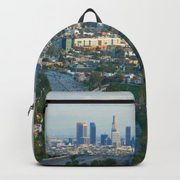 Los Angeles Skyline and Los Angeles Basin Panorama Backpack