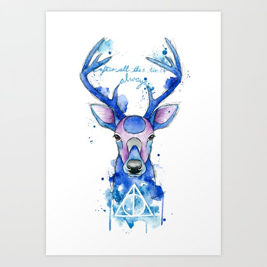 Always Harry Potter Patronus Art Print By Simona Borstnar Society6