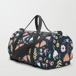 Winter Floral Wonderland Duffle Bag