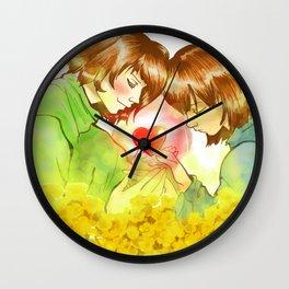 Frisk n Chara  Undertale Wall Clock