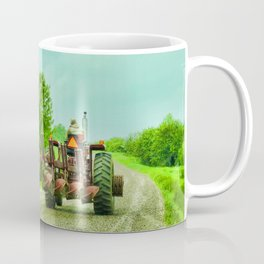 Tractor On Country Road Coffee Mug