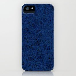 Slate Blue Thread Texture Abstract iPhone Case