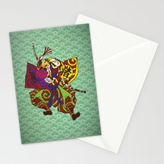 Samurai with vintage japan painting style Stationery Cards