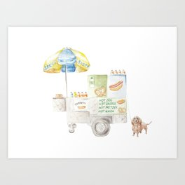 Hot Dog Truck Art Print