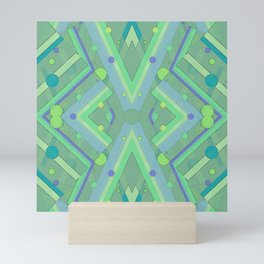 Green and Blue Composition Watercolor Mini Art Print
